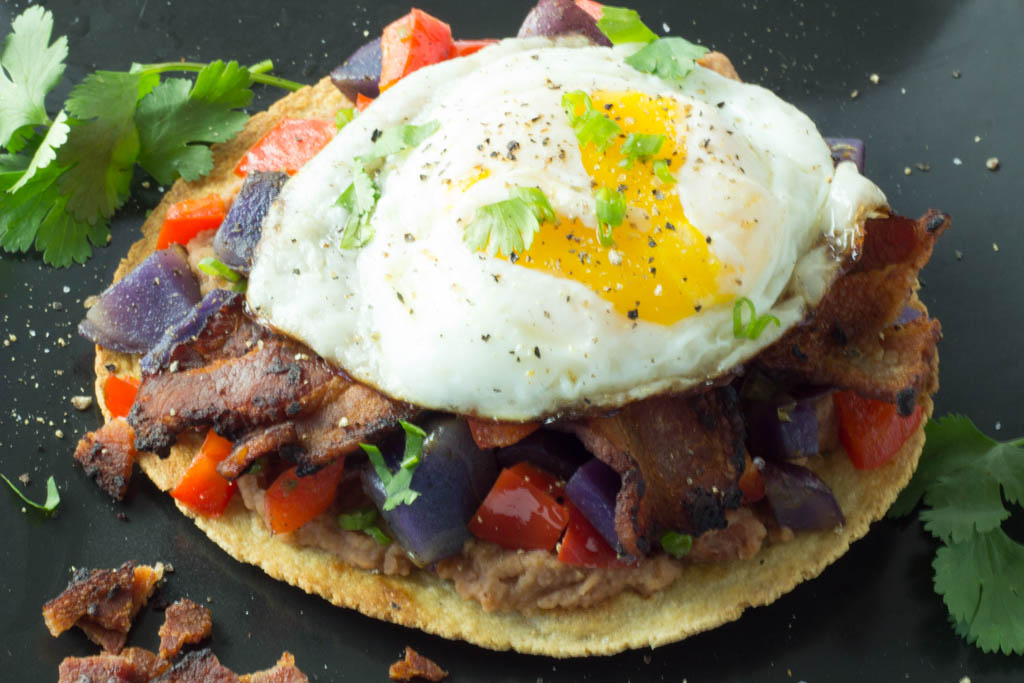 Breakfast Tostada with Purple Potato Hash no wm