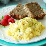 Creamy Goat Cheese & Chive Scrambled Eggs