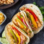crockpot chicken fajitas featured