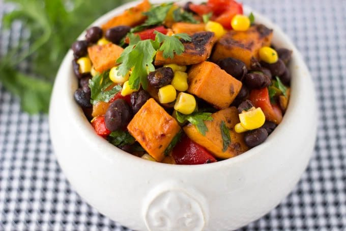 sweet potatoes black bean salad