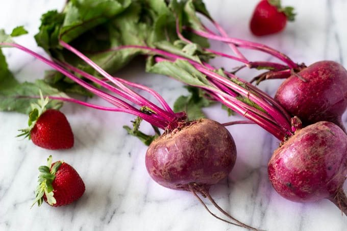 beets and strawberries