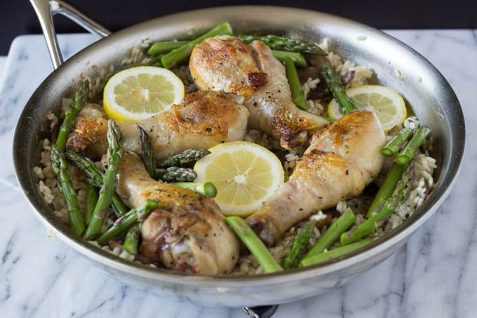 one pot chicken lemons and asparagus