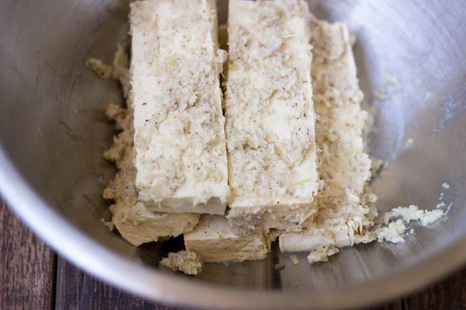 tofu in marinade
