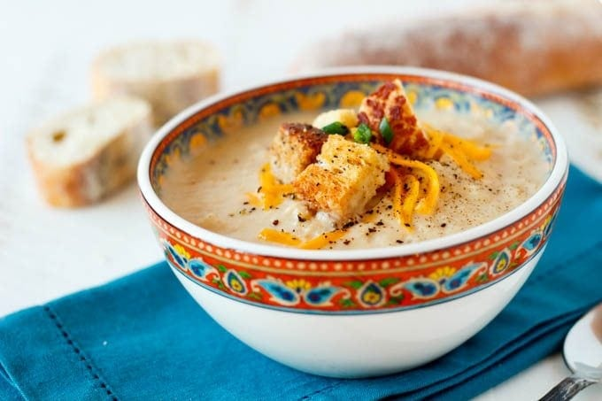 cheddar and cauliflower soup
