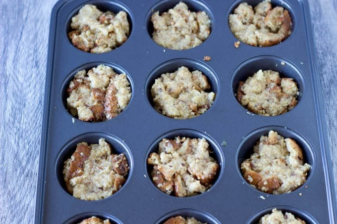 french toast in muffin tins