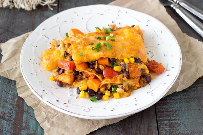 crockpot black bean sweet potato enchiladas-4 -simplehealthykitchen.com