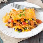 Crockpot Black Bean and Sweet Potato Enchiladas