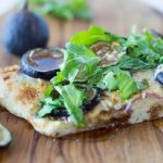 Herbed Flatbread with Fresh Fig, Goat Cheese and Arugula