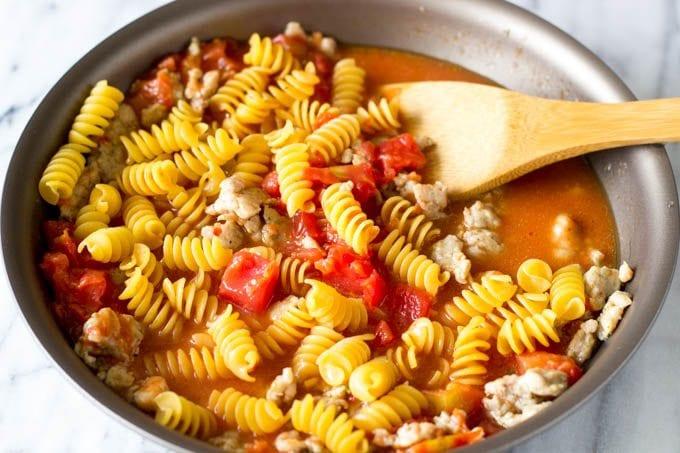 skillet pasta ingredients