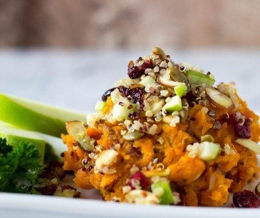 sweet potatoes with fall quinoa