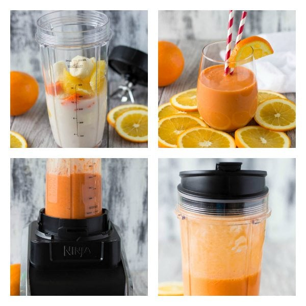 Stress Buster Orange Smoothie Simple Healthy Kitchen