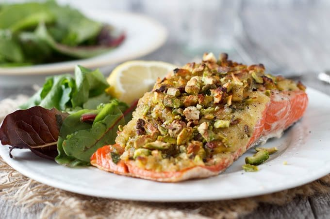 pistacio crusted salmon 3 - simplehealthykitchen.com