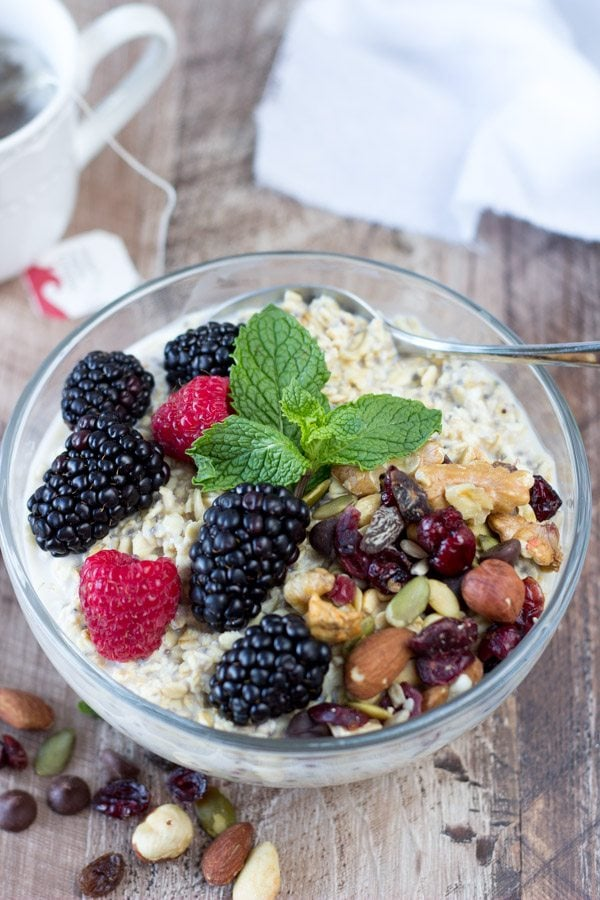 power breakfast bowl nuts and berries -simplehealthykitchen.com #oatmeal (1 of 1)