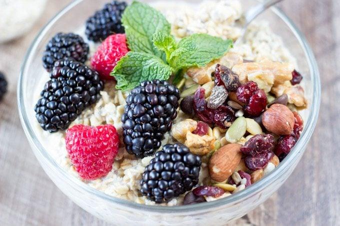power breakfast bowl -simplehealthykitchen.com #oatmeal #blackberries (1 of 1)