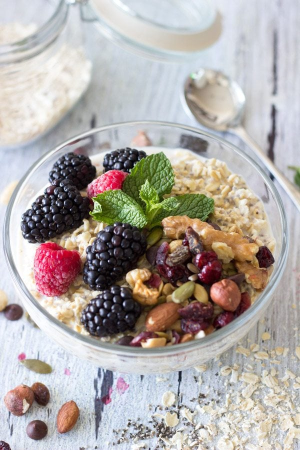 power breakfast bowl -simplehealthykitchen.com #oatmeal #nuts (1 of 1)