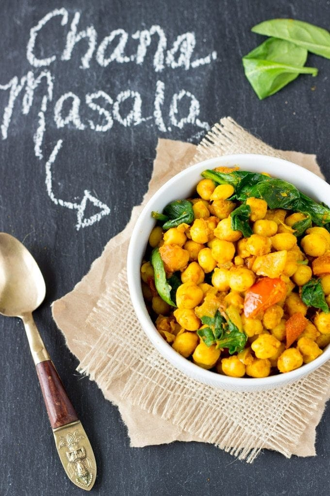 quick and easy channa masala - SimpleHealthyKitchen.com #healthy-1