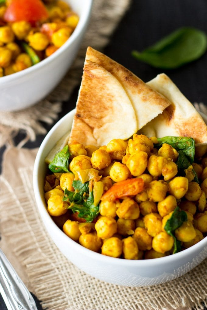 quick and easy channa masala - SimpleHealthyKitchen.com #healthy #one pot #Indian-1