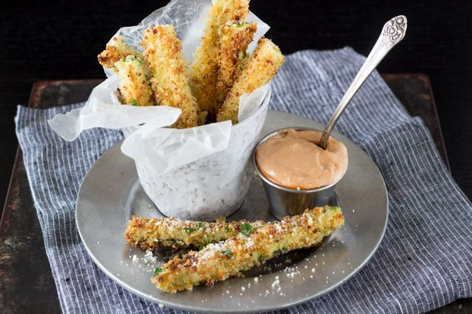 Zucchini Fries with Tomato Aioli | Simple Healthy Kitchen