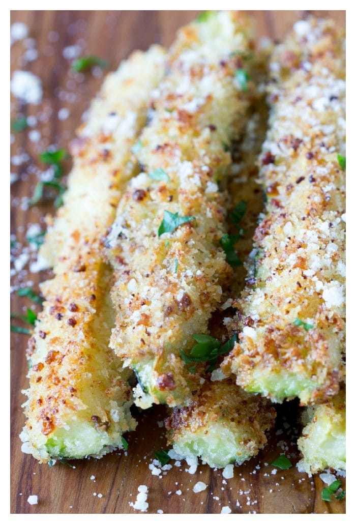 Baked Zucchini Fries with Tomato Aioli