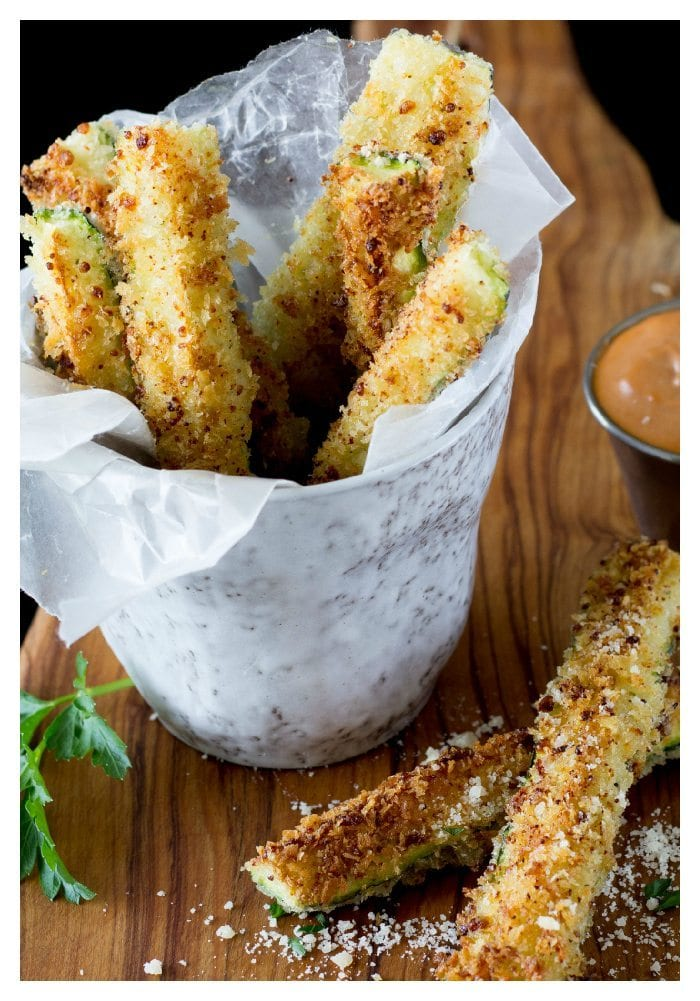 Healthy Oven Baked Zucchini Fries