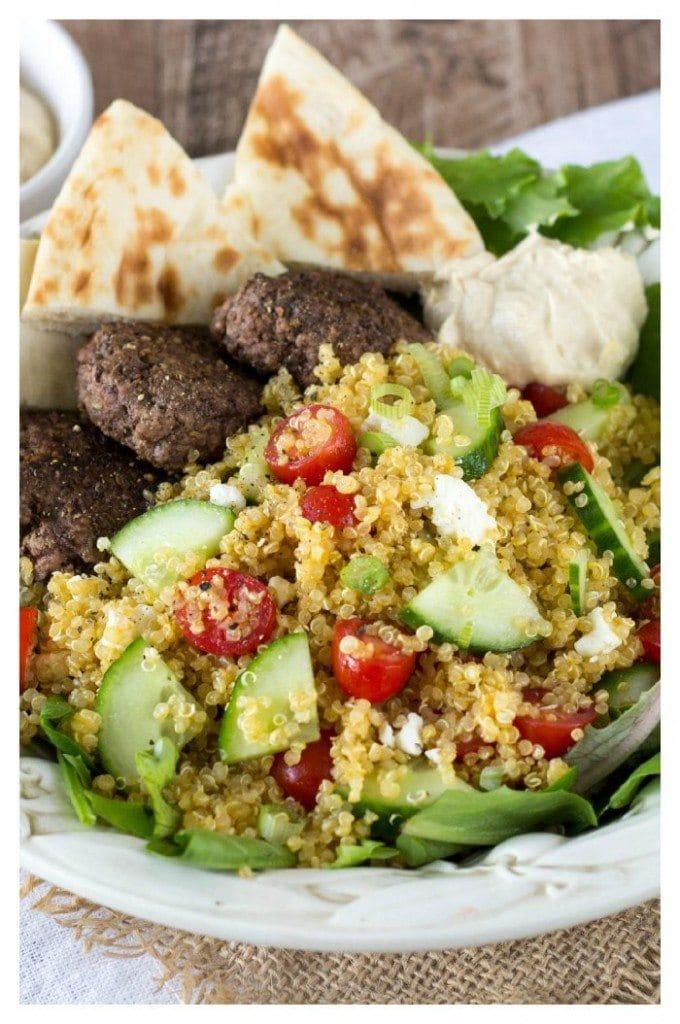 Mediterranean quinoa bowl