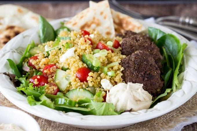 Mediterranean quinoa salad bowl  -simplehealthykitchen.com #quinoa  (1 of 1)