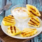 Grilled Pineapple + Honey Cinnamon Yogurt Dip