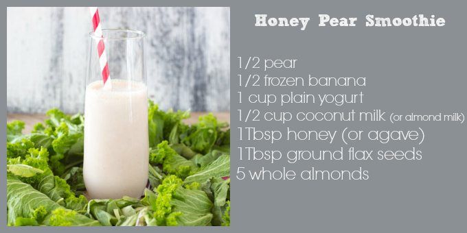honey pear smoothie