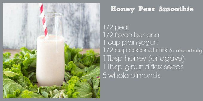 honey pear smoothie