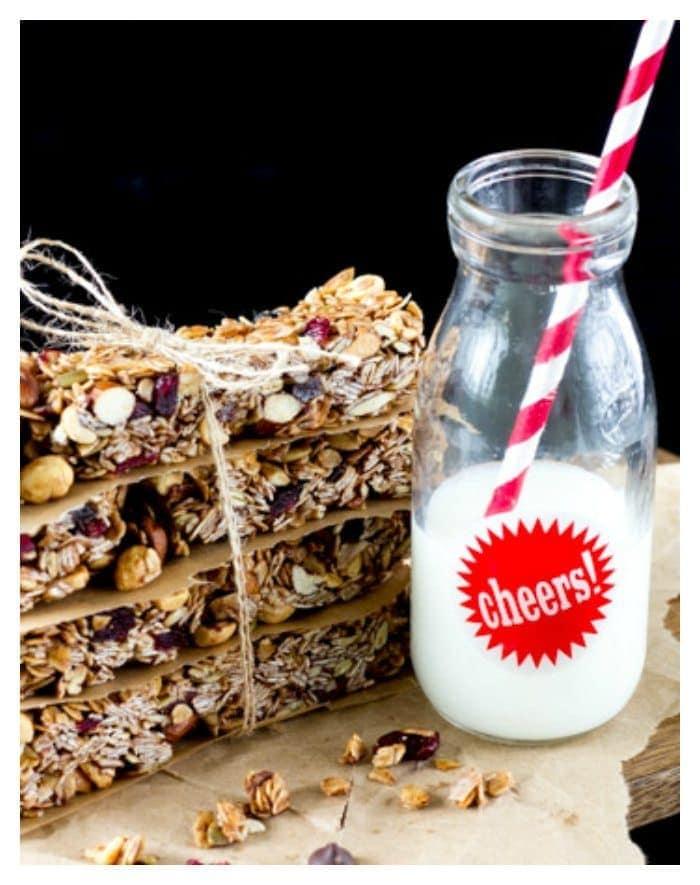 no-bake-homemade-granola -bars