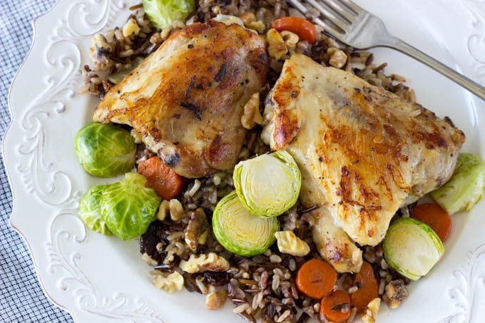 skillet chicken and veggies - simplehealthykitchen.com # one pot meal