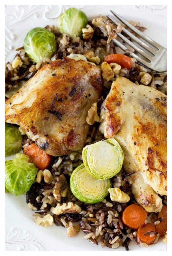 Skillet Chicken and Wild Rice