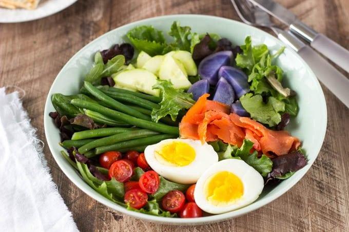smoked salmon nicoise salad- simplehealthykitchen.com #salad # salmon  (1 of 1)