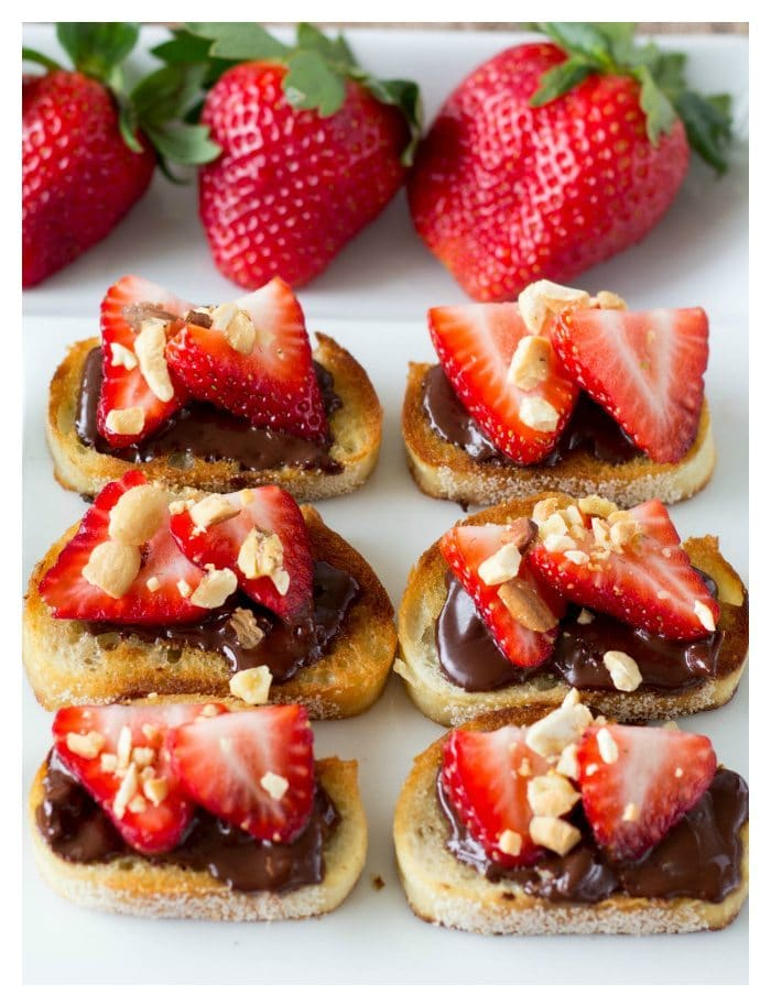 strawberry and chocolate bruschetta