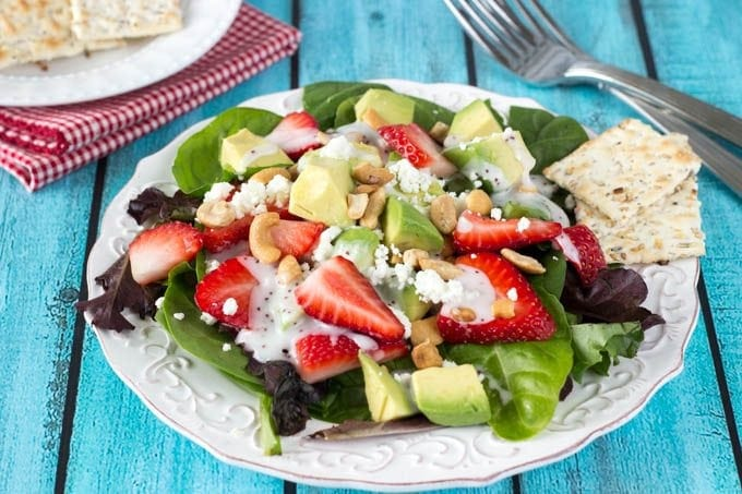 strawberry avocado and feta salad - simplehealthykitchen.com (1 of 1)