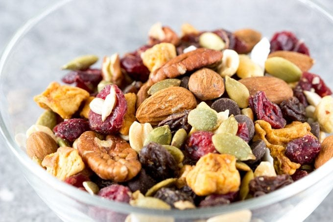 trail-mix- for- homemade- granola-bars