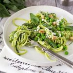 Zucchini Noodles + Avocado Walnut Pesto