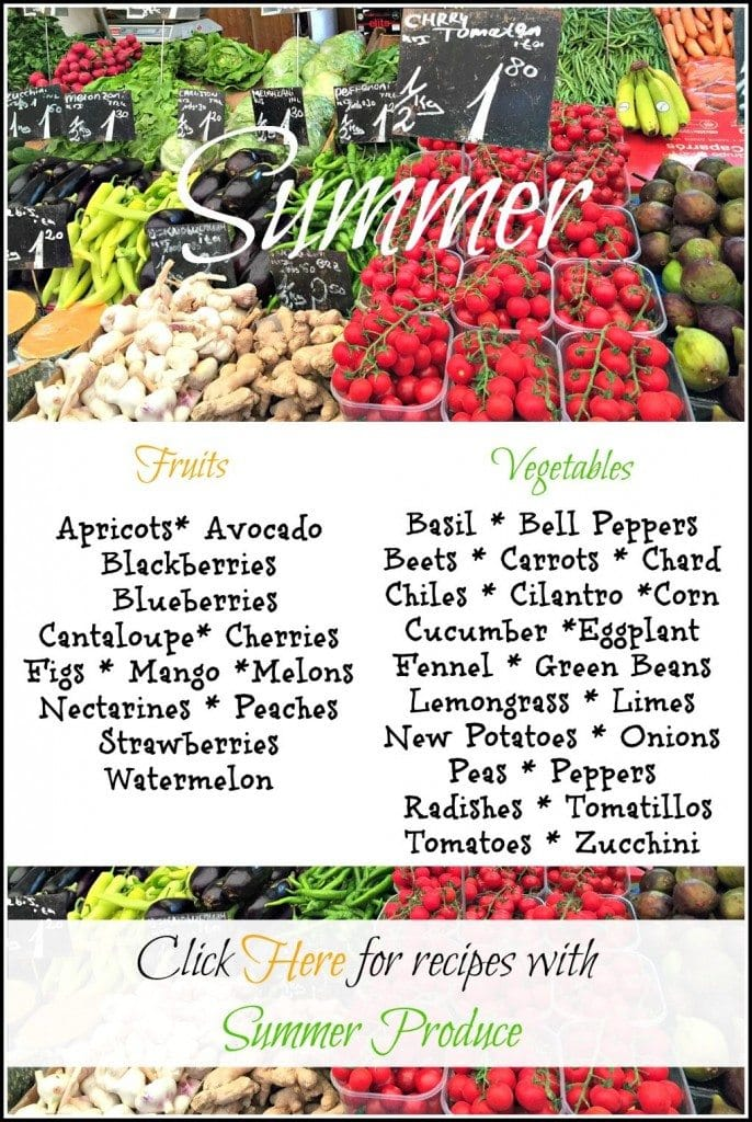 What's in Season Summer Produce