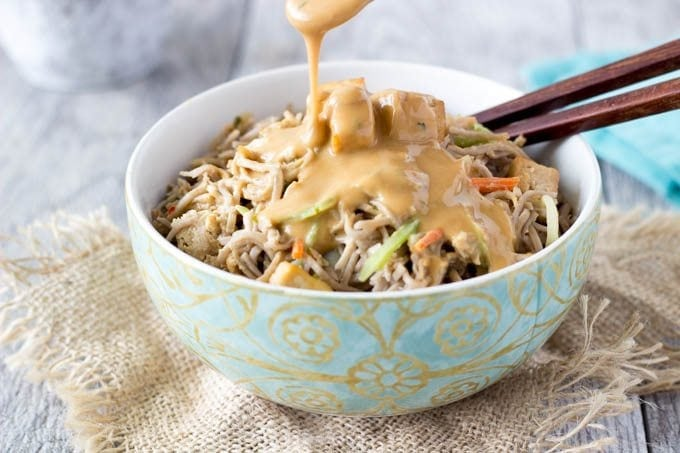 soba noodles with peanut sauce-simplehealthykitchen.com
