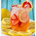 Sparkling Strawberry Lemonade {Sugar-free}