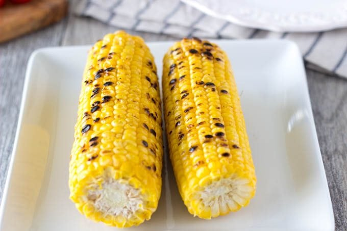 grilled corn- SimpleHealthyKitchen.com