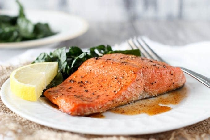 Baked Salmon ( with Honey & Lemon)