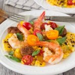 Shrimp & Grilled Corn {with Chorizo}