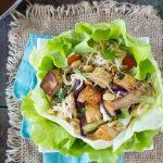 Sesame Peanut Noodle & Tofu Lettuce Wraps
