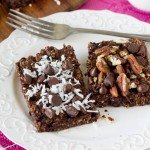 Double Chocolate Breakfast Brownies