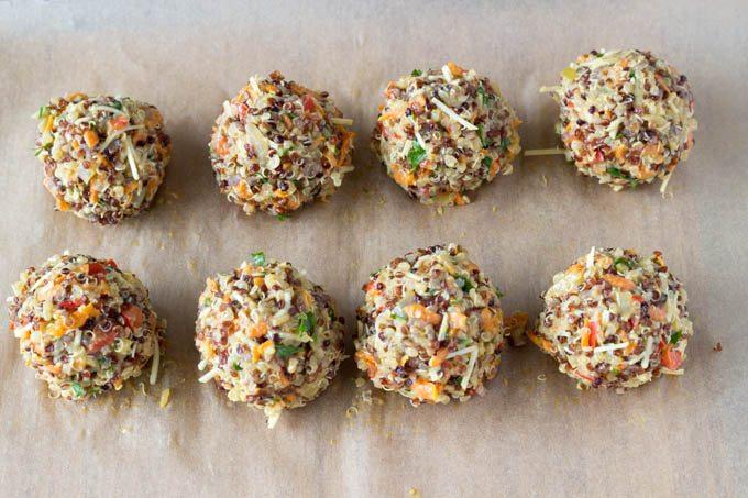quinoa meatballs -simplehealthykitchen.com