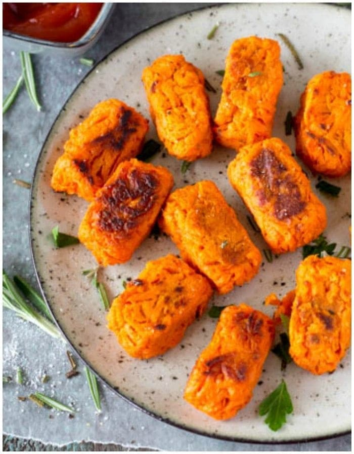healthy sweet potato recipes sweet potato tots with rosemary and sea salt simple 30296