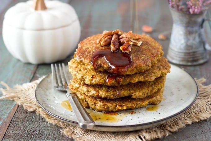 pumpkin-spice-quinoa pancakes 3