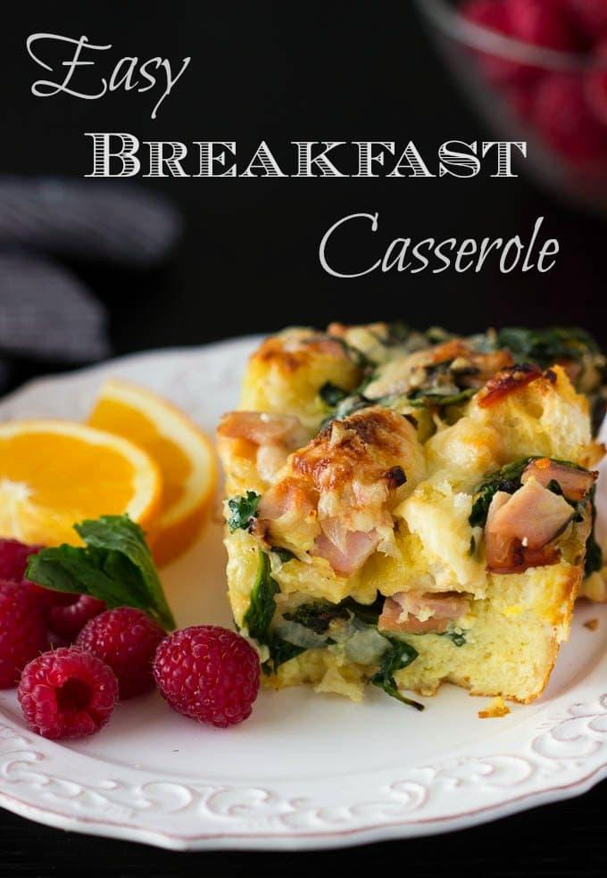 easy breakfast casserole - simplehealthykitchen.com