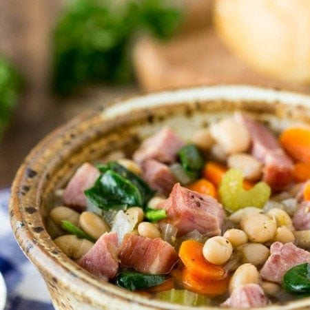 One Pot Ham and Bean Soup
